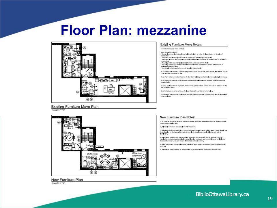 19 Floor Plan: mezzanine BiblioOttawaLibrary.ca