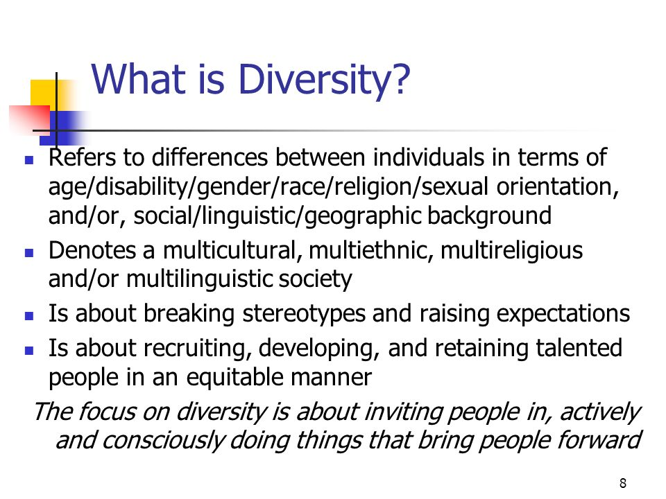 8 What is Diversity.