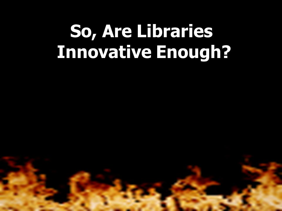 The power of libraries