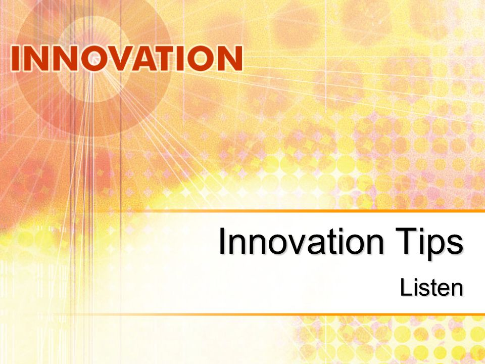 Innovation Tips Learn Un