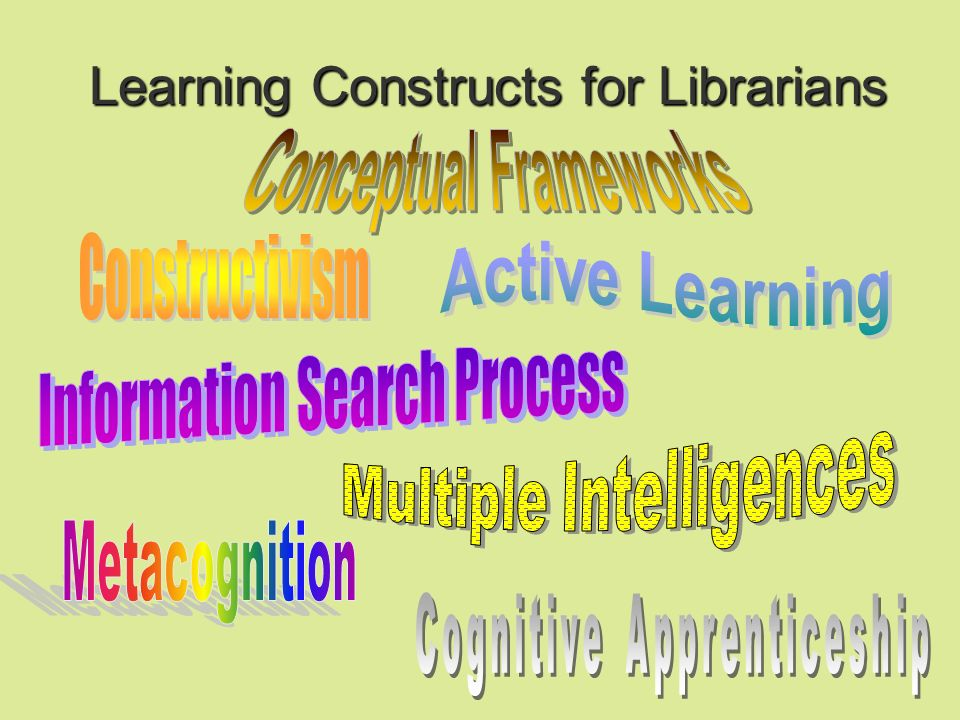 Learning Constructs for Librarians