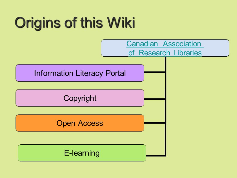 Origins of this Wiki E-learning