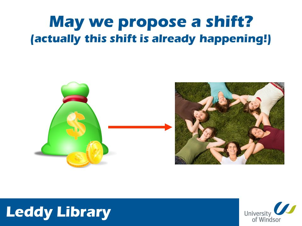May we propose a shift (actually this shift is already happening!)