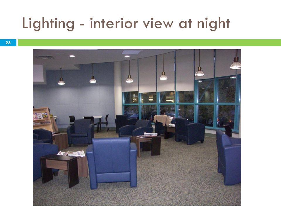 Lighting - interior view at night 23