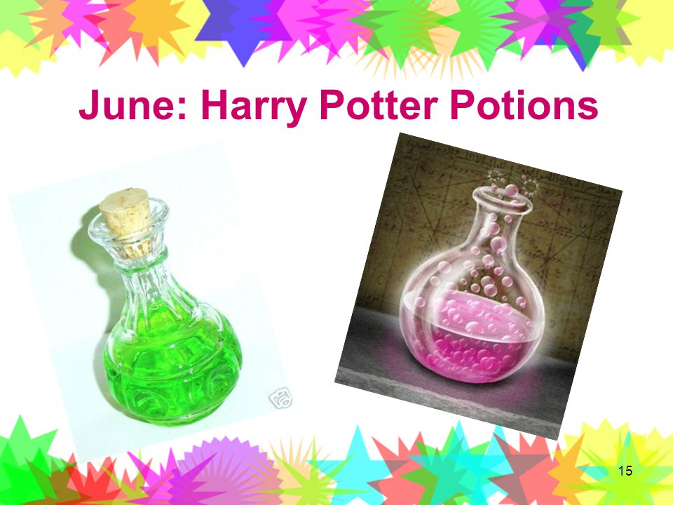 15 June: Harry Potter Potions