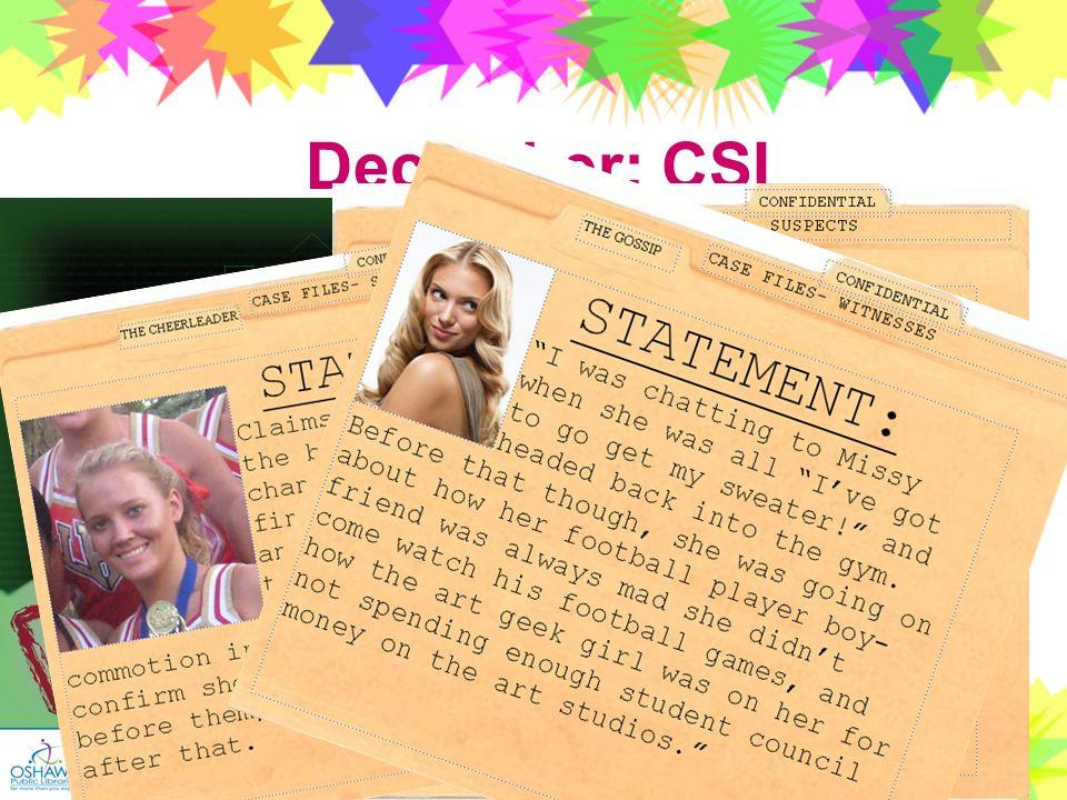 37 December: CSI