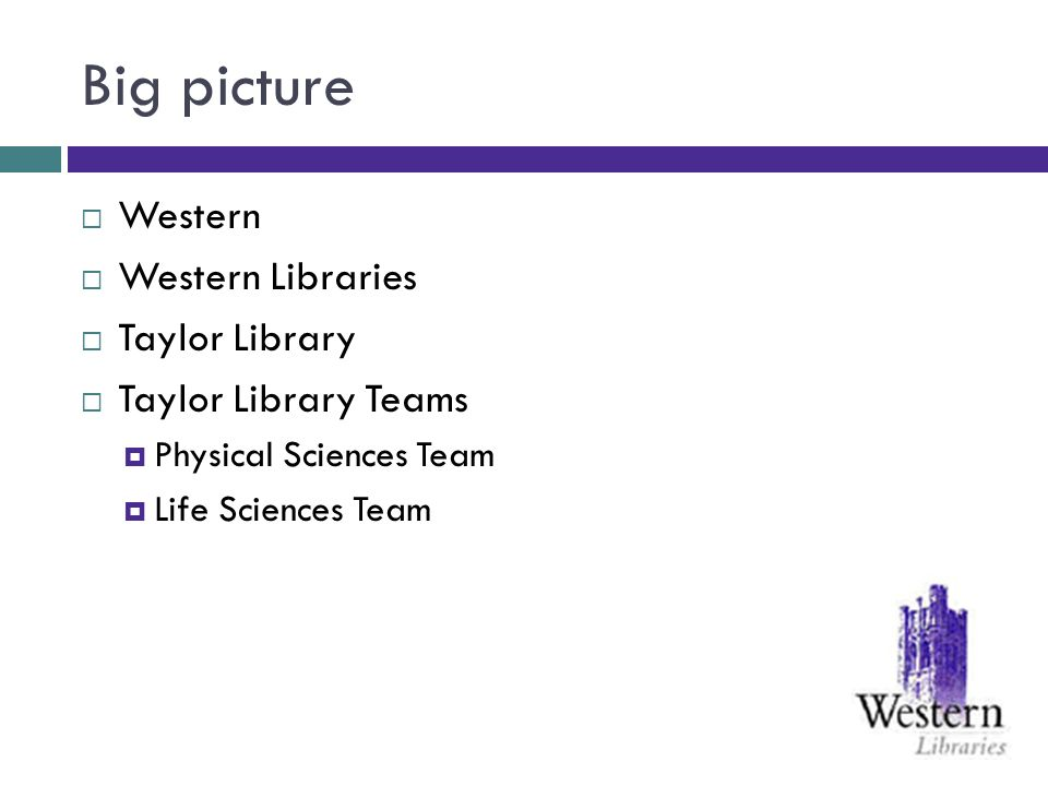 Big picture Westerns Mission Statement: Western provides the best student experience among Canadas leading research-intensive universities.