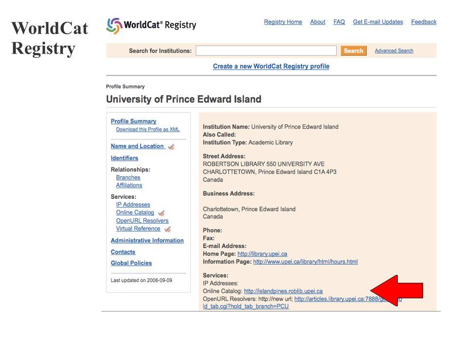 WorldCat Registry