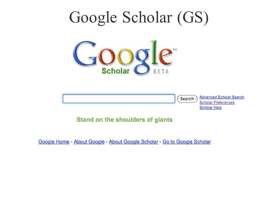 Google Scholar (GS)