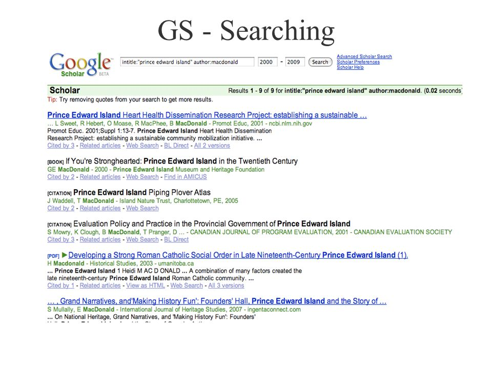 GS - Searching
