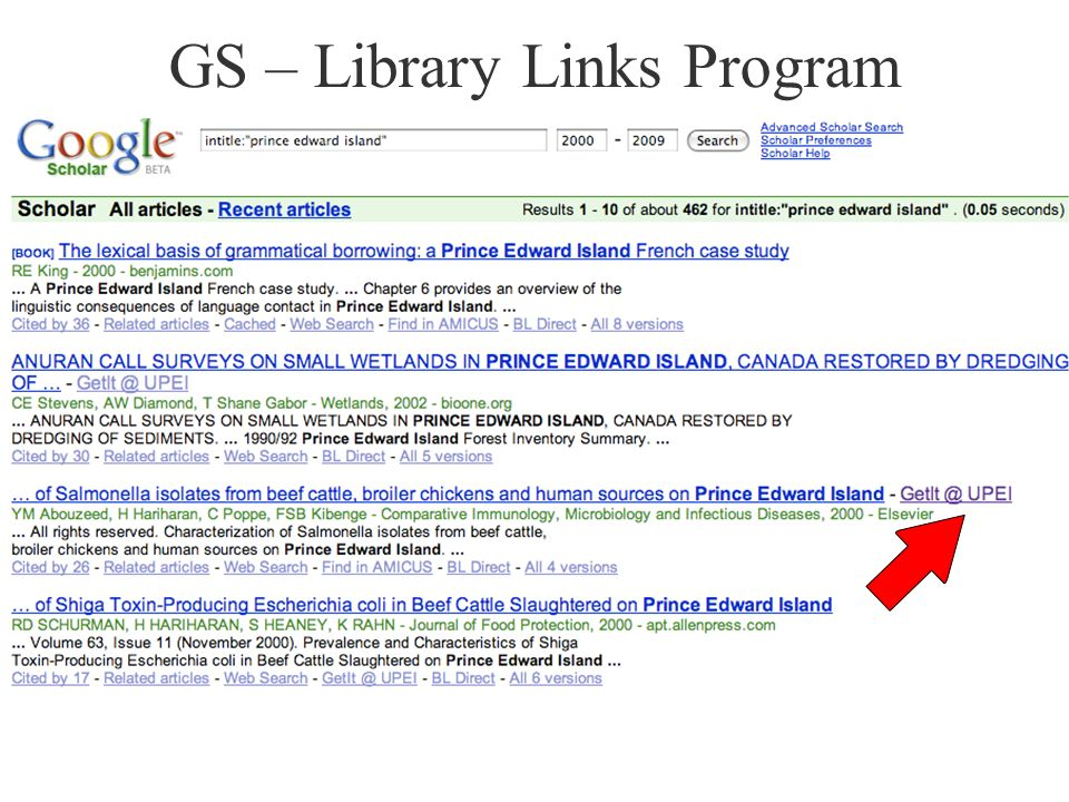GS – Library Links Program