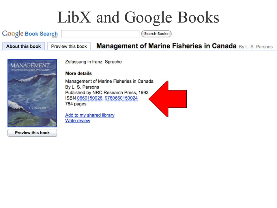 LibX and Google Books