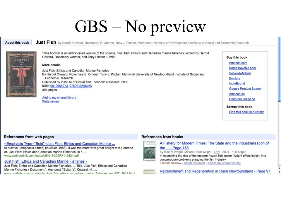 GBS – No preview