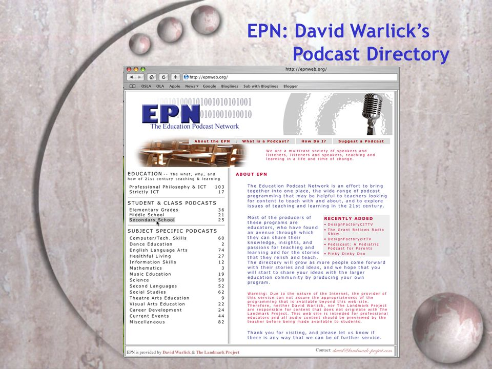 EPN: David Warlicks Podcast Directory