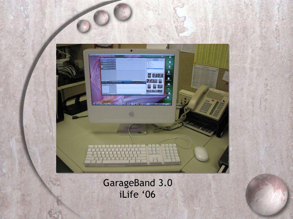 GarageBand 3.0 iLife 06