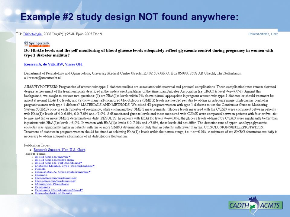 Example #2 study design NOT found anywhere:
