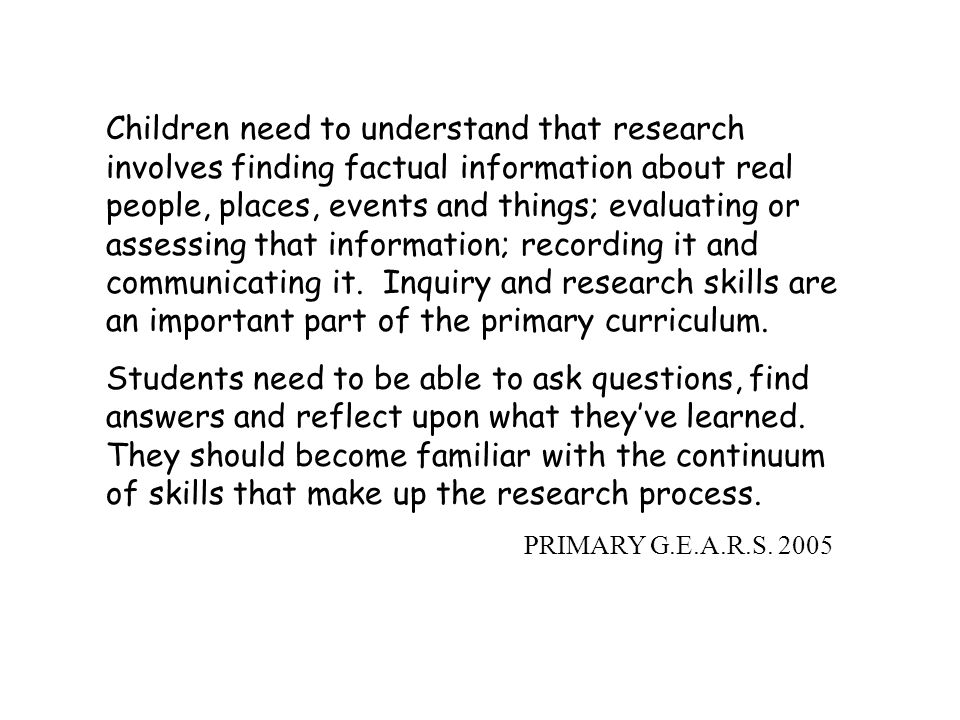 Overview Why Grand Erie Research Guides What GEARS is all about Primary GEARS Junior/Intermediate GEARS Skills Continuum JK-12 Questions/Discussion