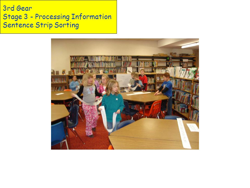 3rd Gear Stage 3 - Processing Information Sentence Strip Sorting