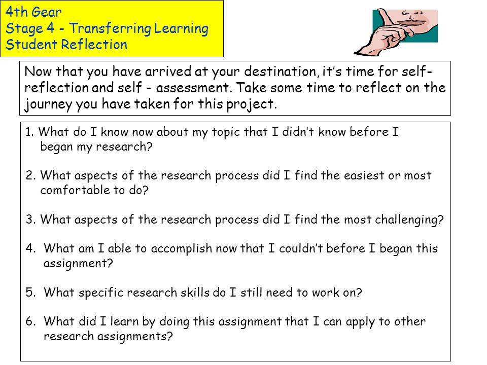 4th Gear Stage 4 - Transferring Learning Essays and Reports Formats are included in this section for a variety of essays and reports. Research Reports