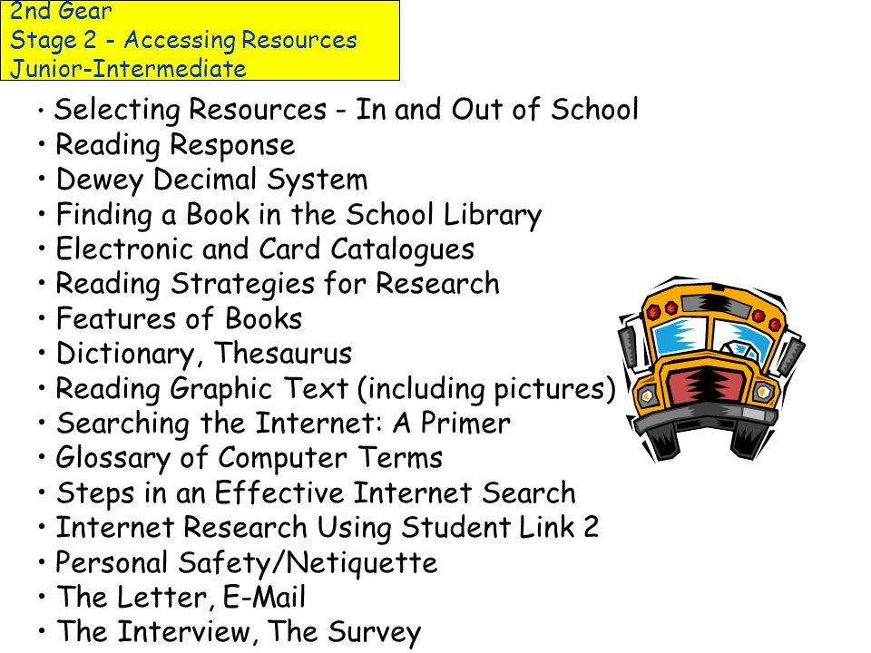 2nd Gear Stage 2 - Accessing Resources Primary Cultivating Primary Non-fiction Readers Building a Non-fiction Collection Non-fiction Response Journal