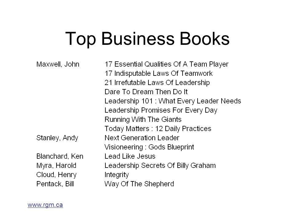 www.rgm.ca Top Business Books