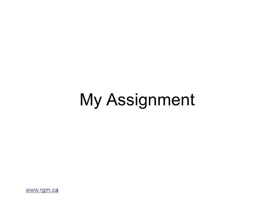 www.rgm.ca My Assignment