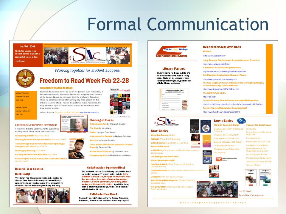 Formal Communication