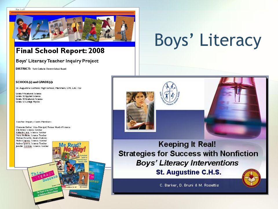 Boys Literacy