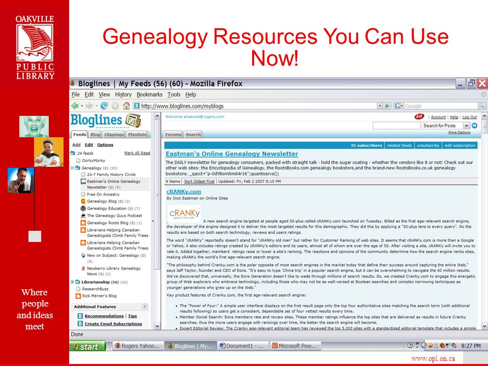 Where people and ideas meet   Genealogy Resources You Can Use Now!