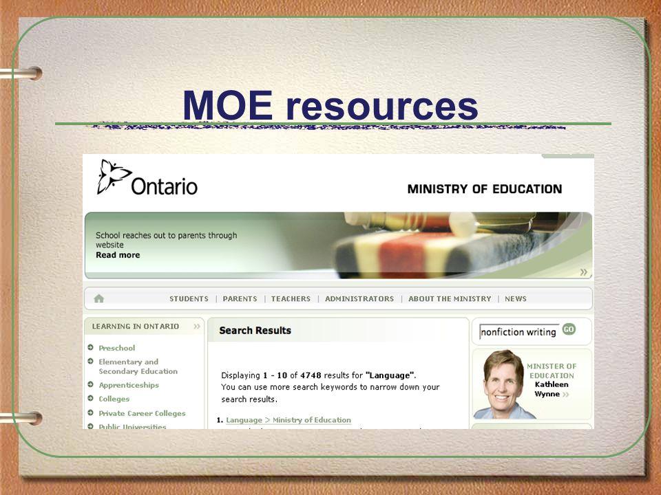 MOE resources