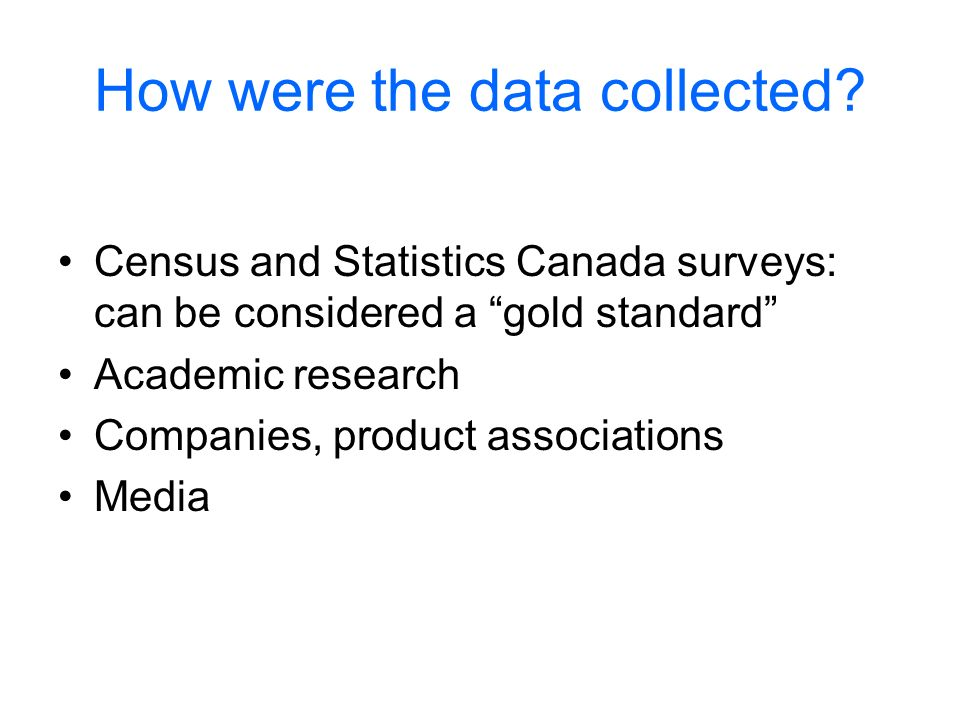 How were the data collected