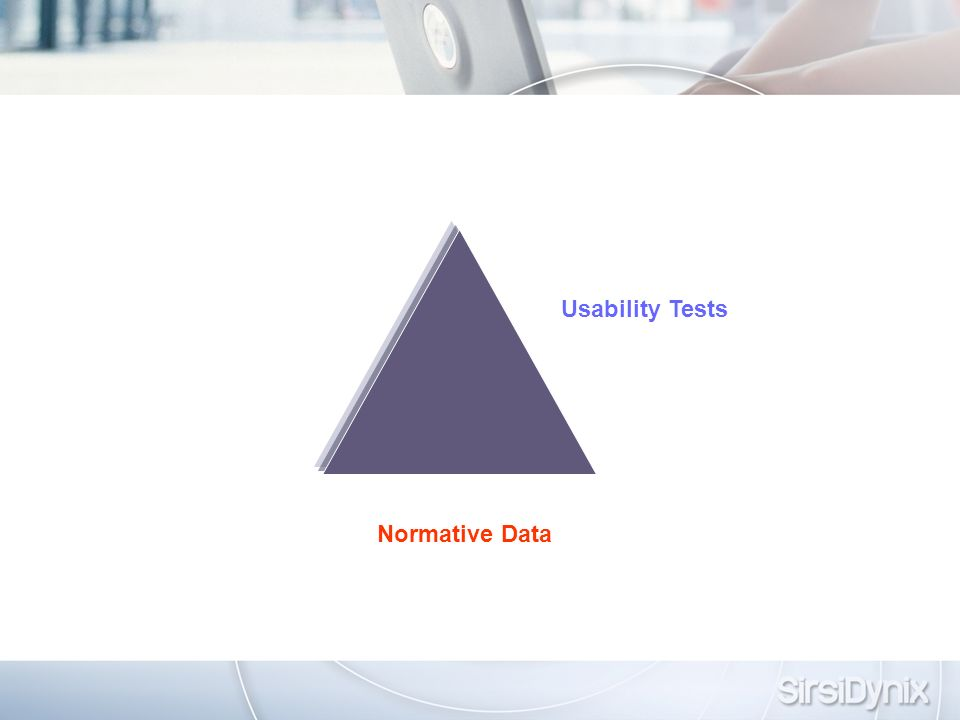 Normative Data Usability Tests
