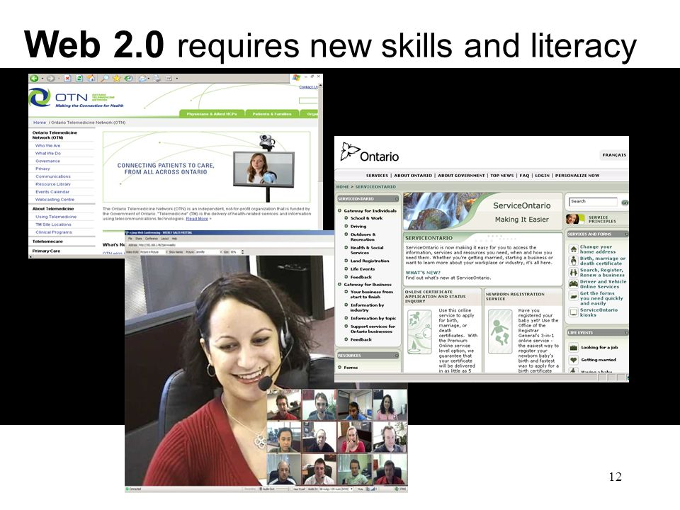 12 Web 2.0 requires new skills and literacy