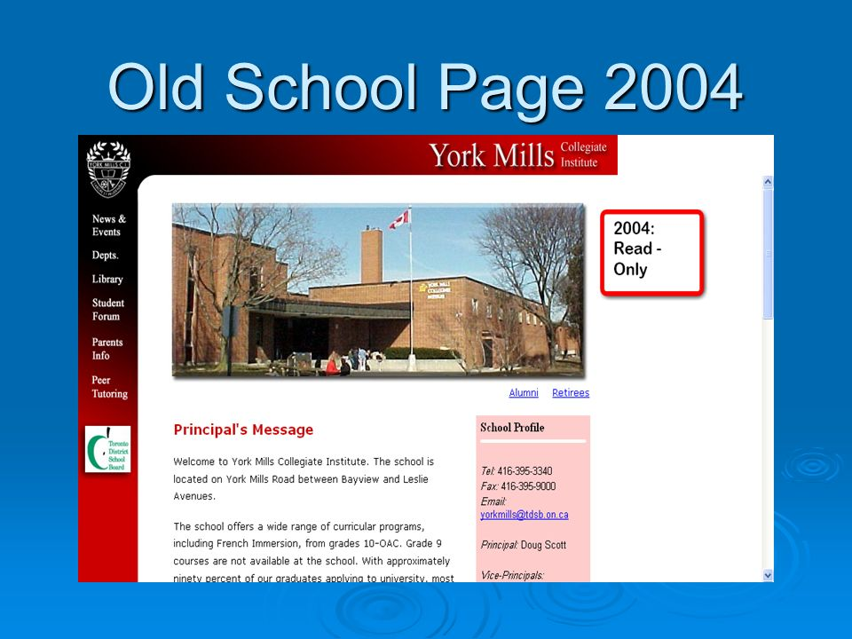 Old School Page 2004