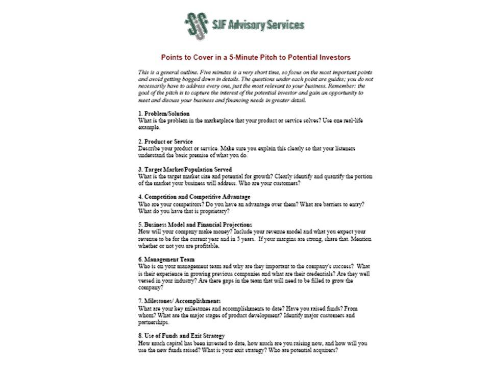 9 © 2008 SJF Advisory Services
