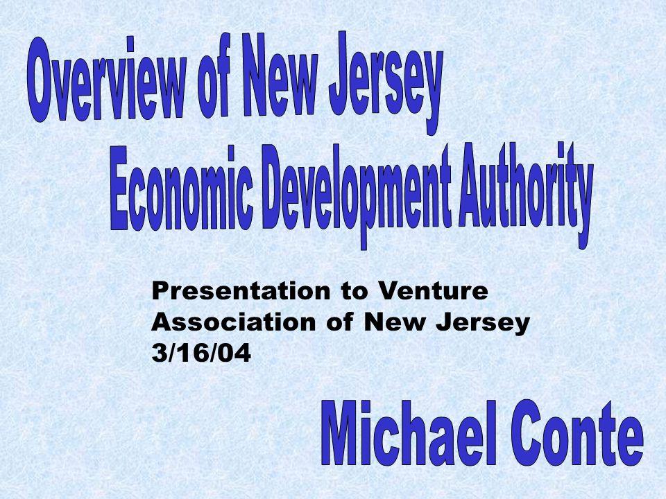 Presentation to Venture Association of New Jersey 3/16/04