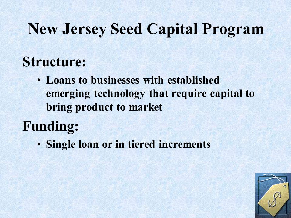 Structure: Loans to businesses with established emerging technology that require capital to bring product to market Funding: Single loan or in tiered