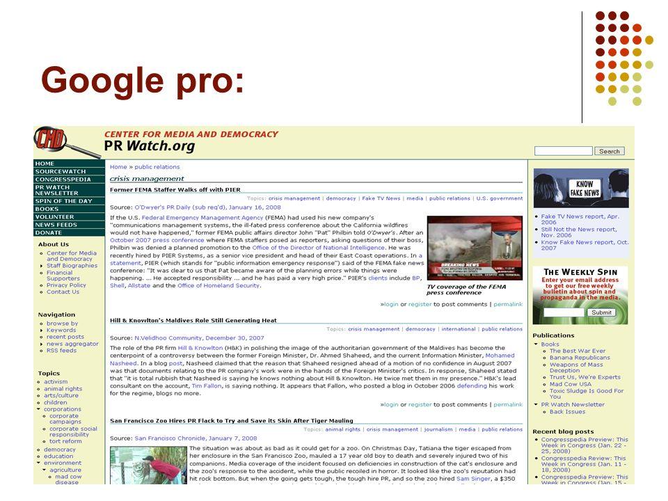 11 Google pro: