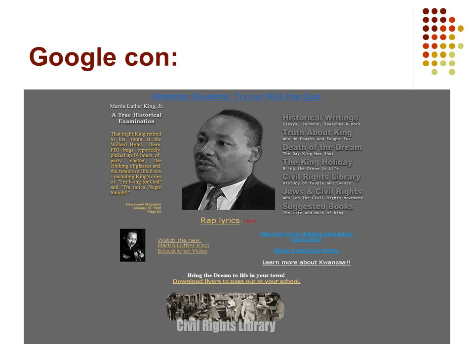 12 Google con: