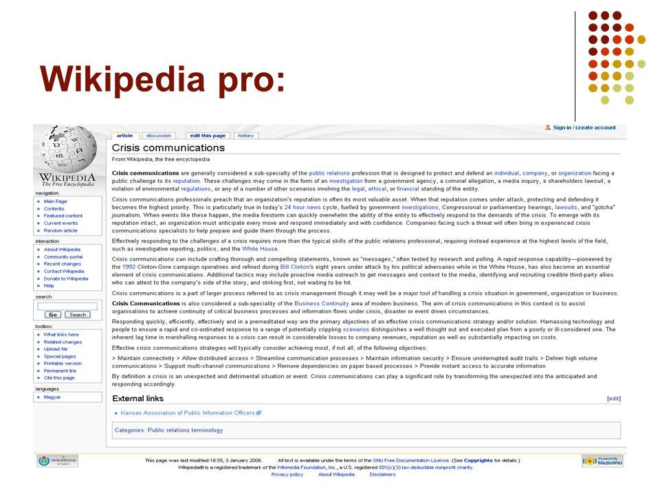 14 Wikipedia pro: