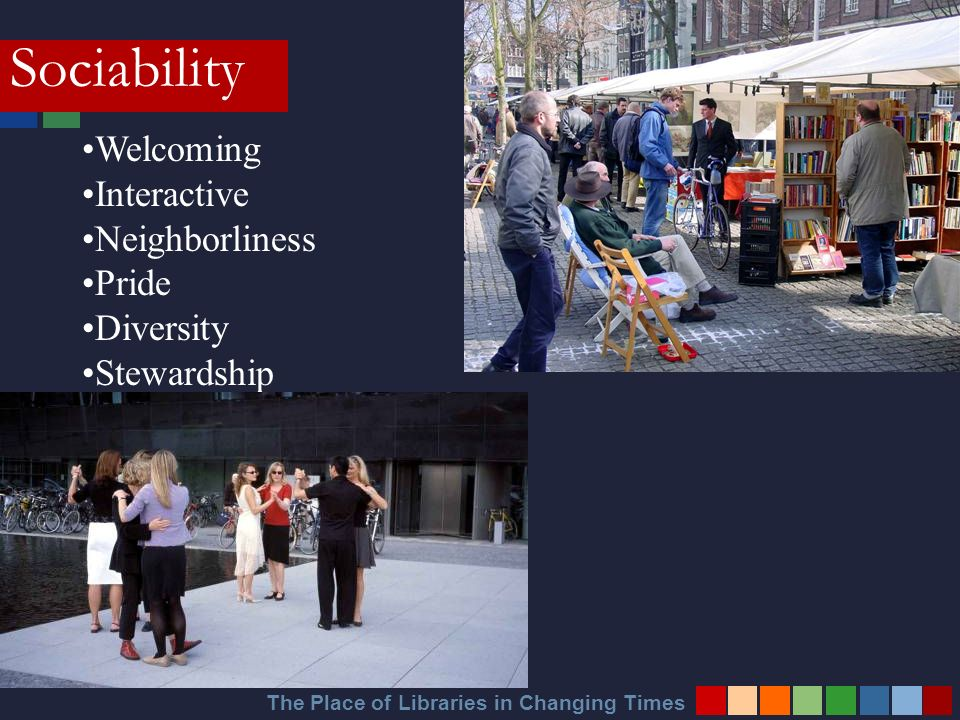 Welcoming Interactive Neighborliness Pride Diversity Stewardship Sociability