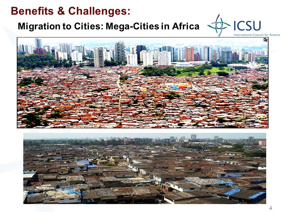 4 Benefits & Challenges: Migration to Cities: Mega-Cities in Africa