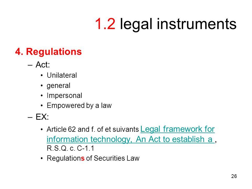 26 1.2 legal instruments 4.