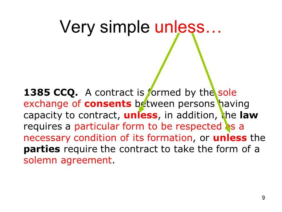 10 Unless… Writing Signature Original EX: Bill of lading, evidence, etc.