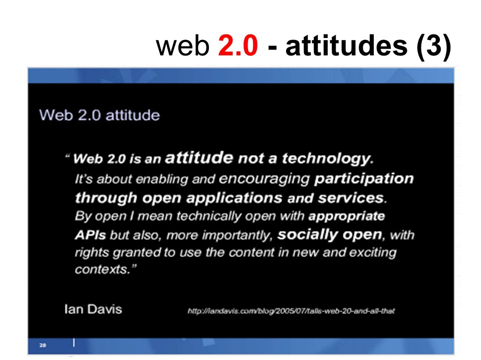 8 web 2.0 - differences