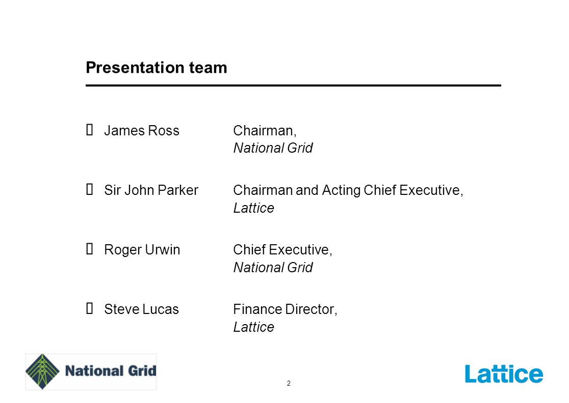 Steve Lucas Finance Director, Lattice