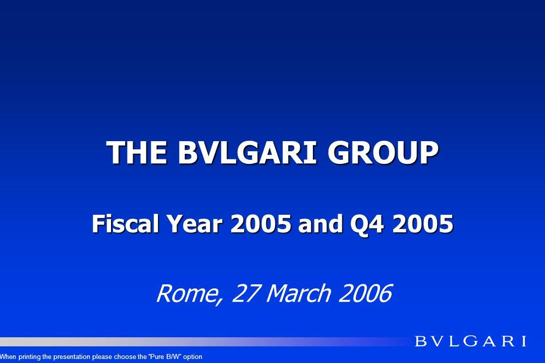 FINANCIAL RESULTS Q4 2005 Eur mios.Q4 2005 Q4 2004 DELTA Q4 05/04 REVENUES - reported REVENUES - const.currency 311.2275.0+13.2% +12.6% GROSS PR.