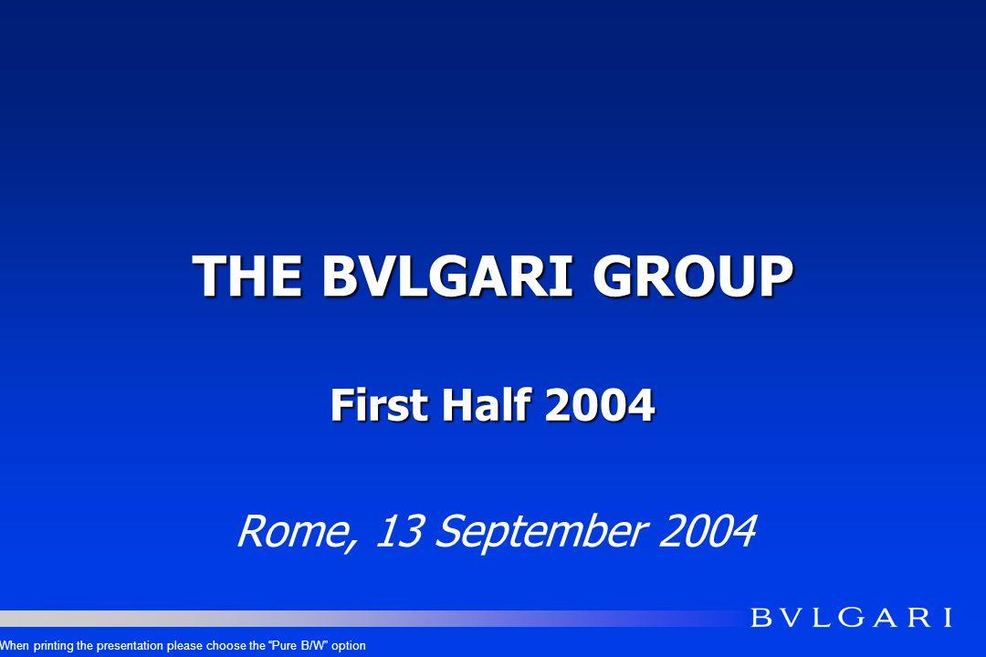 FINANCIAL HIGHLIGHTS H1 2004 Eur mios.H1 2004 H1 2003 DELTA H1 04/03 REVENUES - REPORTED REVENUES – AT CONST.FX 352.8330.1+6.9% +10.6% GROSS PROFIT222.3205.9*+8.0% OPERATING EXPENSES ex A&P 137.0136.7+0.2% EBIT ex A&P85.369.2+23.3% ADVERTISING & PROMOTION EXPENSES 43.034.1+26.1% EBIT42.335.1+20.5% NET PROFIT33.725.0+34.5% MARGINS H1 2004 - 63.0% 38.8% 24.2% 12.2% 12.0% 9.6% MARGINS H1 2003 - 62.4% 41.4% 21.0% 10.3% 10.6% 7.6%