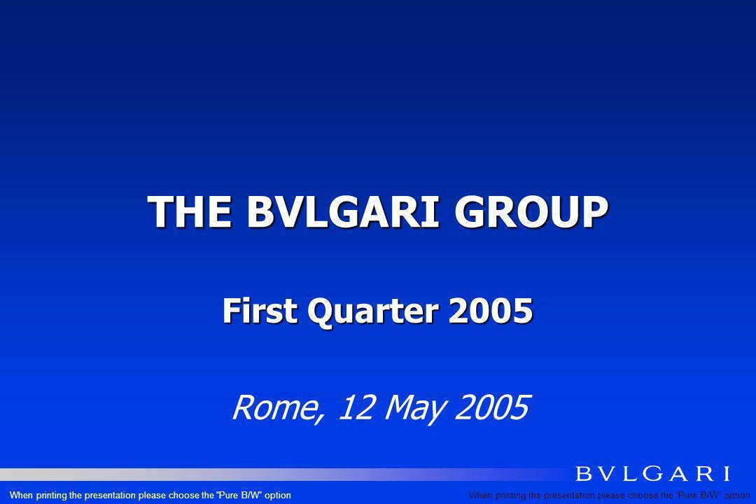 FINANCIAL HIGHLIGHTS Q1 2005 Eur mios.Q1 2005 Q1 2004 DELTA Q1 05/04 REVENUES - REPORTED REVENUES – AT CONST.FX 179.4160.3+11.9% +12.8% GROSS PROFIT % ON SALES 117.1 65.2% 100.3 62.5% +16.8% EBIT EX ADV.