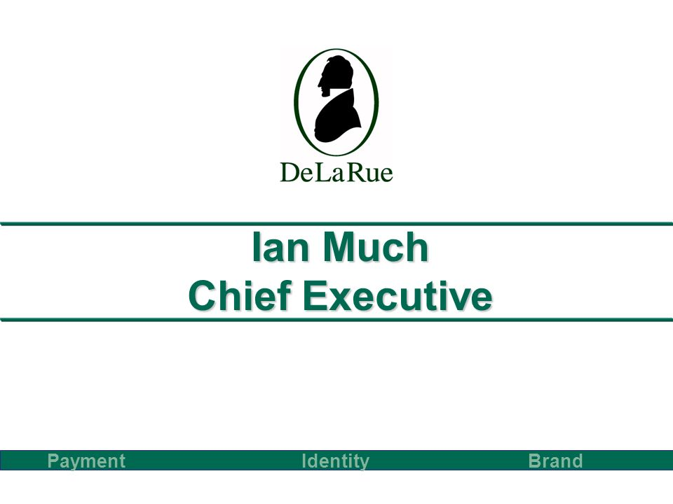 Ian Much Chief Executive PaymentBrand Identity